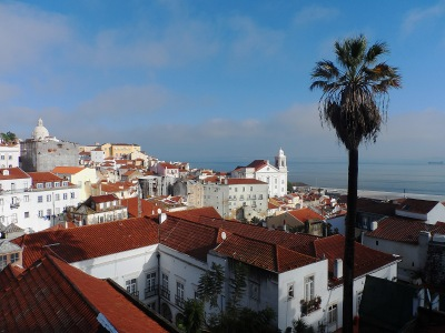 Portas do Sol - viewpoint overlooking the Alfama neighborhood
