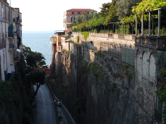 Cliffside views in Sorrento.