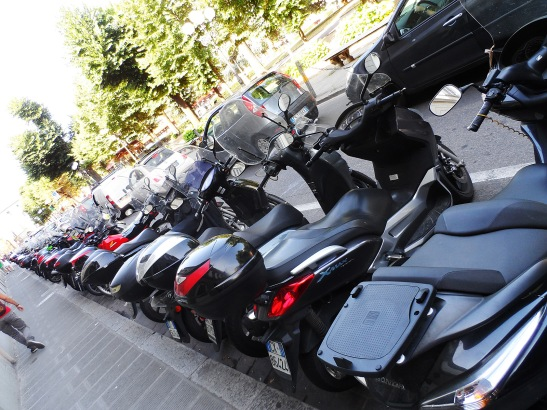 Vespas everywhere!!