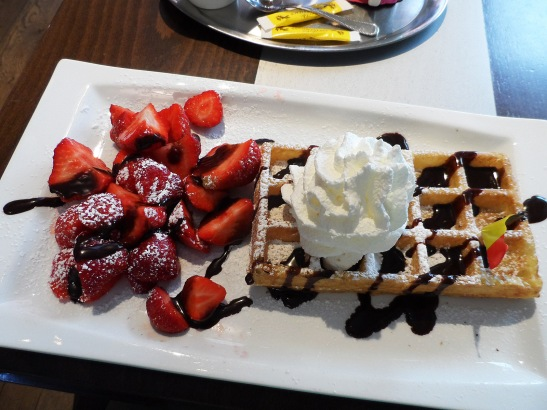 Belgian waffles! Delicious!